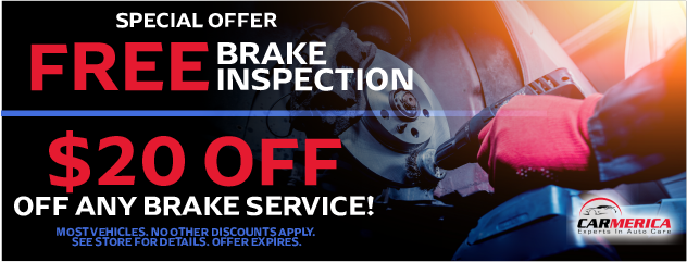 Free Brake Inspection and $20 OFF Brake Service